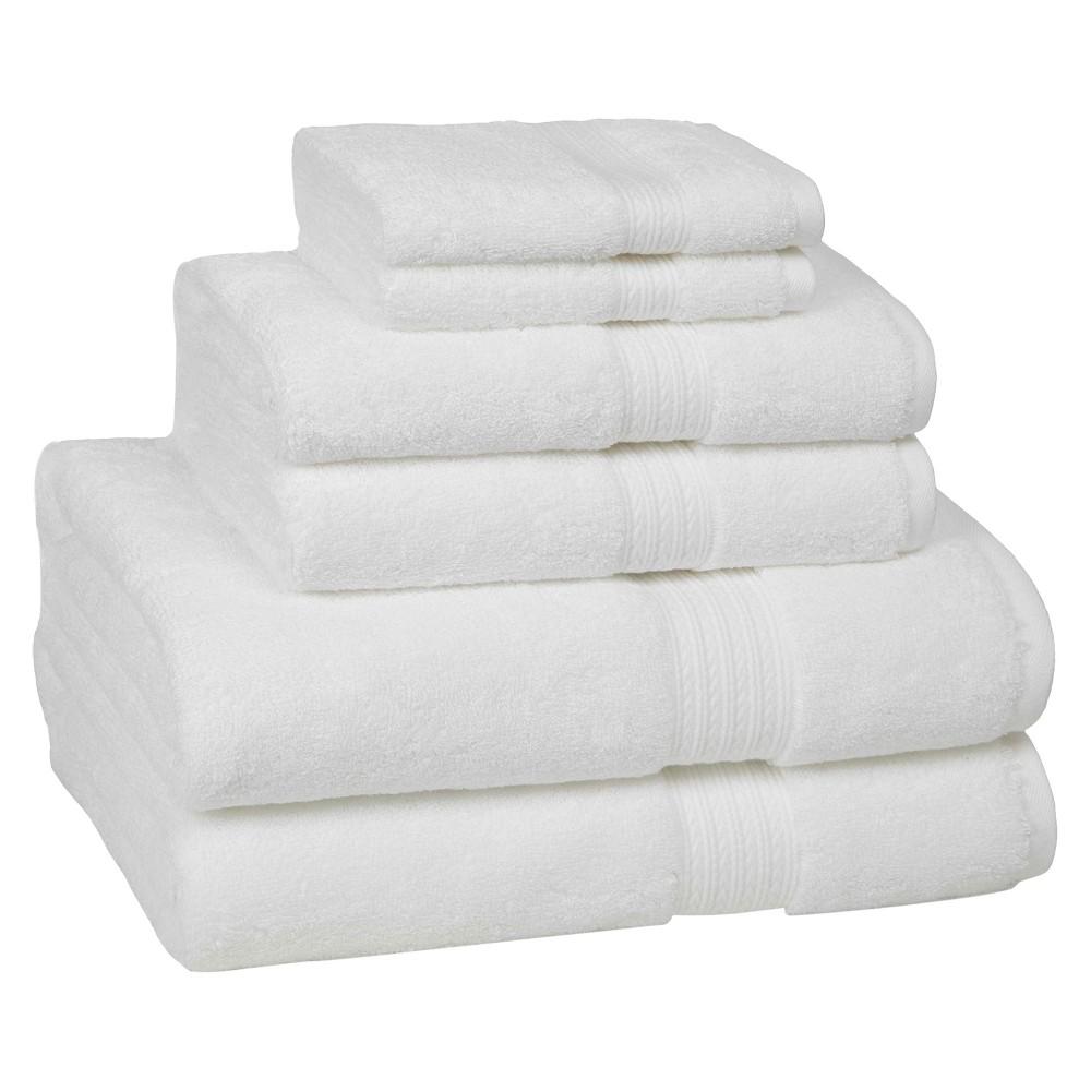 6pc Signature Solid Bath Towel Set White - Cassadecor Reviews