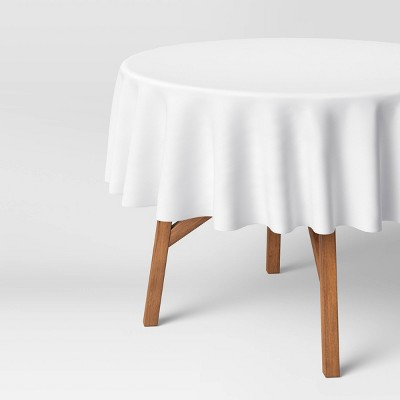 "70"" Cotton Solid Tablecloth White - Threshold™"