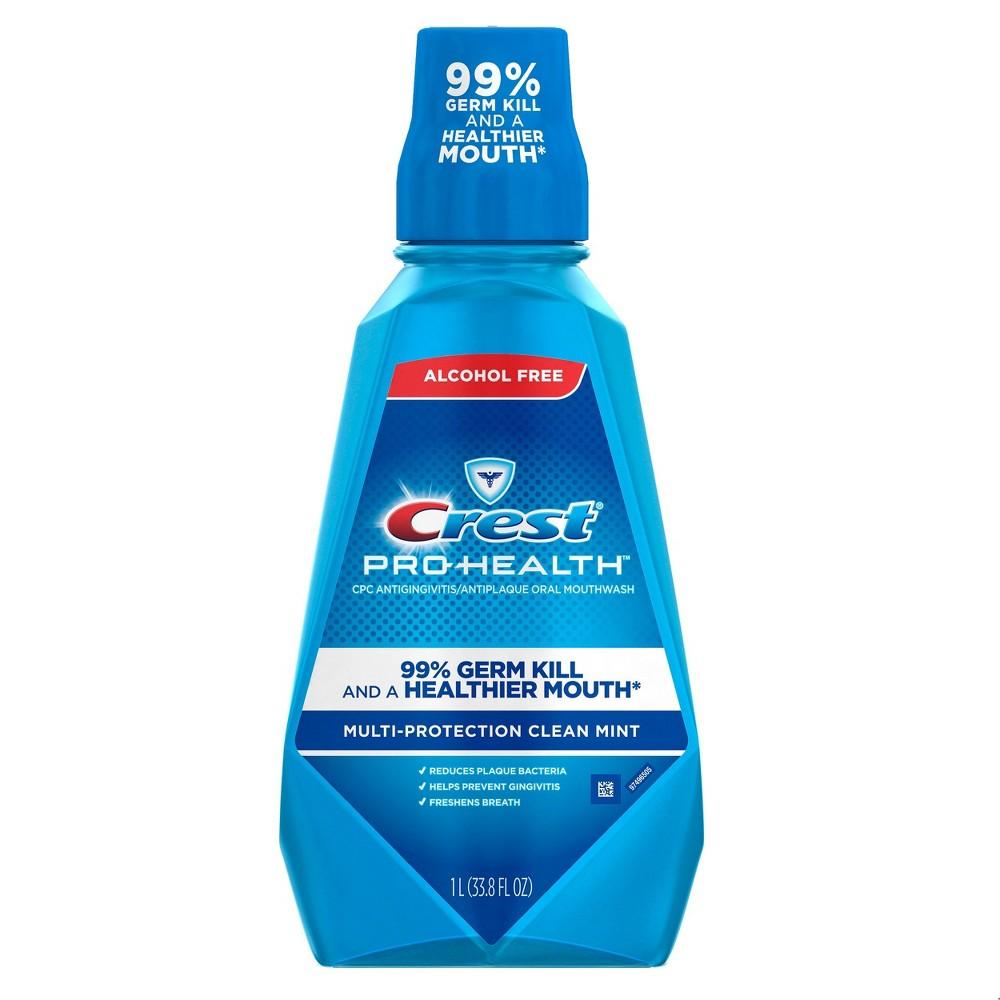 Crest Pro - Health Clean Mint Multi - Protection Mouthwash - 1L