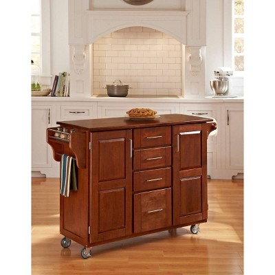 Kitchen Carts And Islands with Wood Top Red - Home Styles