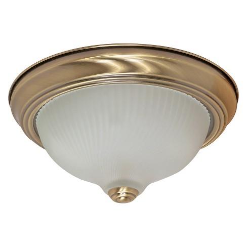 Ceiling Lights Flush Mount Antique Brass - Aurora Lighting - image 1 of 1
