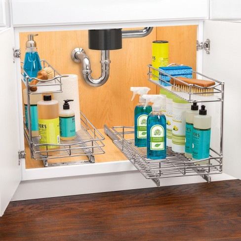 Link Professional 11 5 X 18 Slide Out Under Sink Cabinet Organizer Pull Two Tier Sliding Shelf