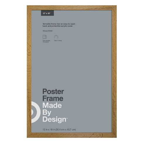 """12"""" x 18"""" Poster Frame Oak - Made By Design™ - image 1 of 4"""