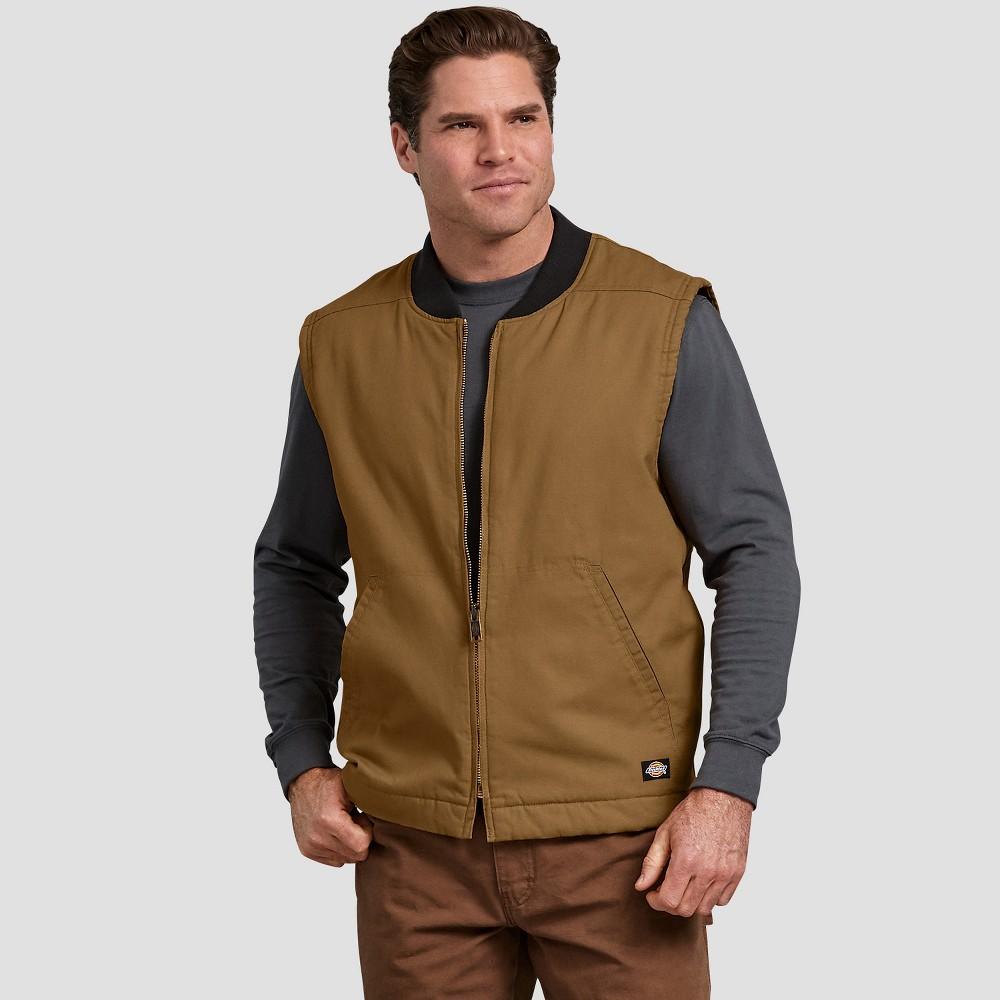 Dickies Men's Sleeveless Duck Vests - Brown XL