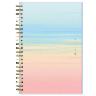 """2021-22 Academic Planner 8""""x5"""" Frosted Weekly/Monthly Wirebound Copacabana - Blue Sky"""