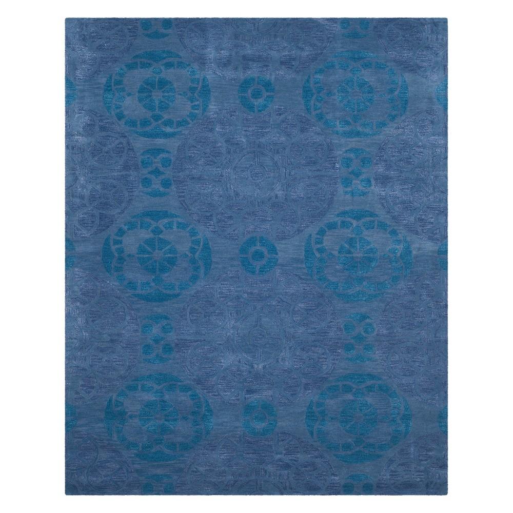8'9X12' Medallion Tufted Area Rug Blue - Safavieh