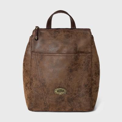 Concept Zip Closure Backpack - Brown