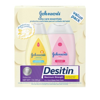 Johnson's Baby Care Essentials Gift Set - 3pc