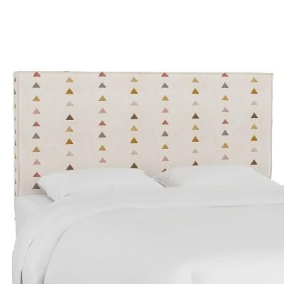 French Seam Slipcover Headboard Peak Mustard - Cloth & Company