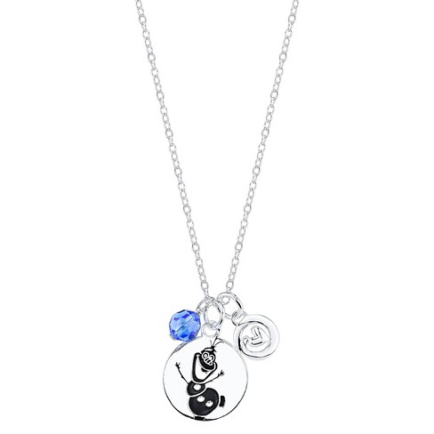Disney Sapphire Sterling Silver 'Some People Are Worth Melting For' with 6mm Crystal Pendant Silver (18.88') - image 1 of 2