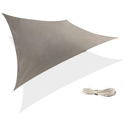 12' x 12' Square Sun Shade Sail - Gray - Backyard Expressions