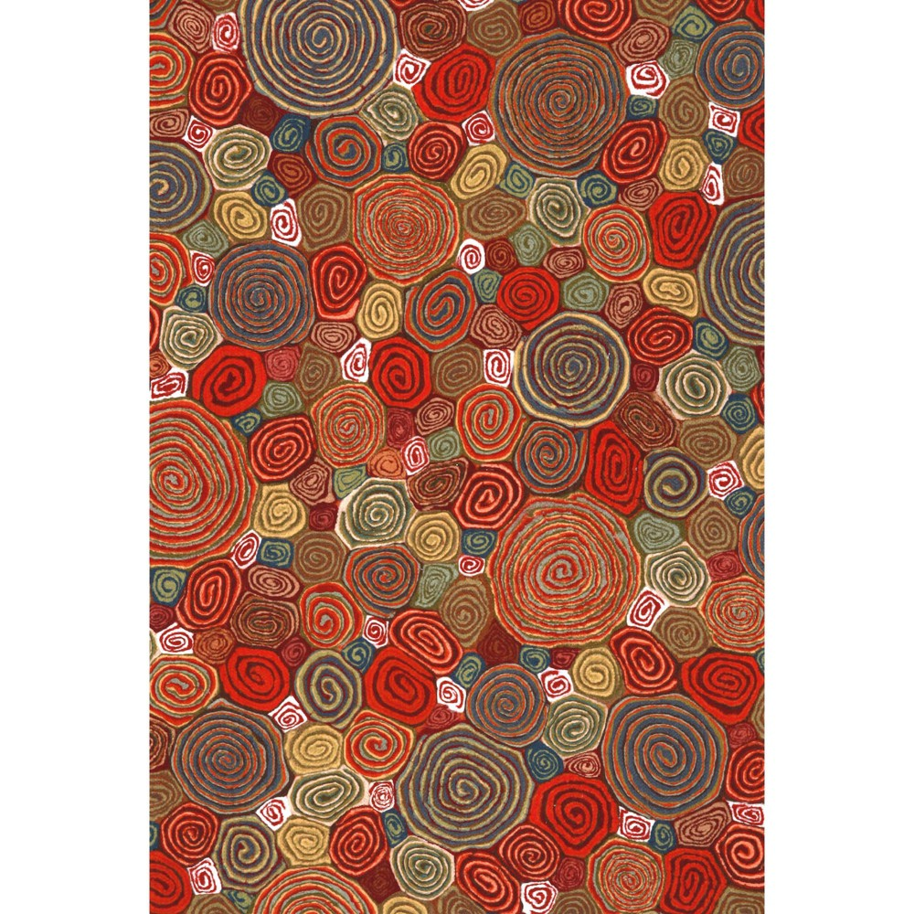 Image of 1'8X2' Fish Pressed Or Molded Accent Rug Red - Liora Manne