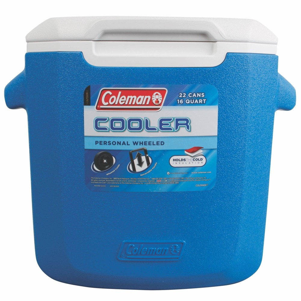 Image of Coleman 16qt Wheeled Cooler - Blue