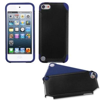 MYBAT For Apple iPod Touch 5th Gen/6th Gen Black Dark blue Fusion Hard Hybrid Case