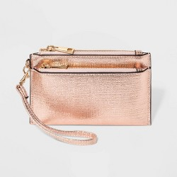 Women's Double Zip Pouch Clutch - A New Day™
