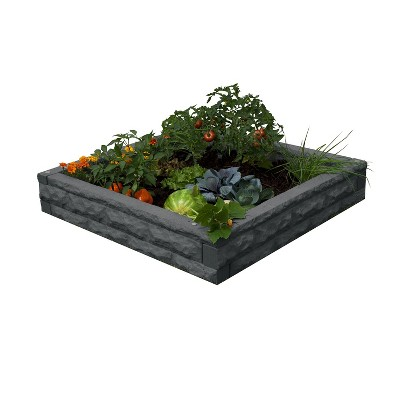 Good Ideas Garden Wizard Outdoor Self Watering Polyethylene Raised Garden Bed, Dark Granite
