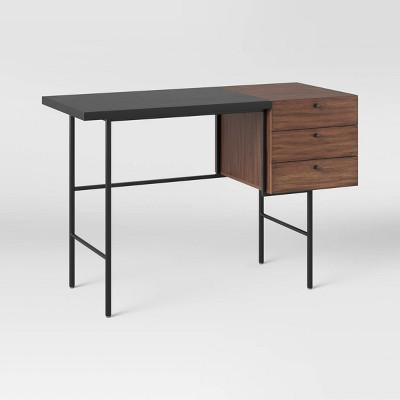 Geometric Mixed Material Desk with Drawers - Project 62™