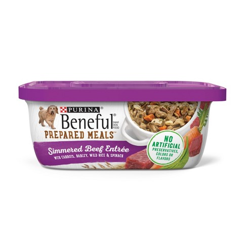 Purina® Beneful Prepared Meals Simmered Beef Entrée Wet Dog Food - 10oz - image 1 of 5
