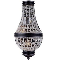 "Elegant Lighting 1209W9 Stella 9.5"" Wide 2 Light Wall Sconce from the Urban Classics Collection"