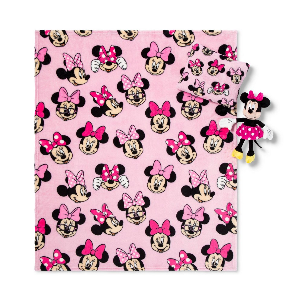 Image of Minnie Mouse Throw and Pillow Set