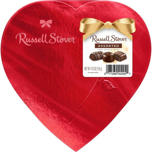 Russell Stover Valentine's Assorted Chocolates Red Foil Heart - 4.75oz - image 1 of 2