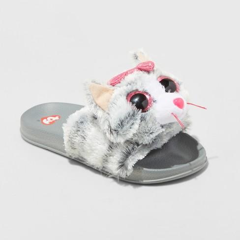girls kiki beanie boo pool slided slippers target