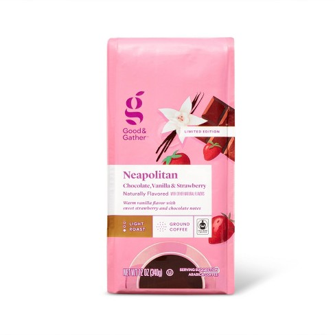 Naturally Flavored Neapolitan Bagged Coffee Light Roast -12oz - Good & Gather™ - image 1 of 3