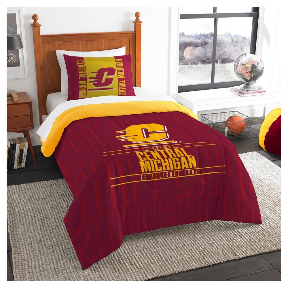 NCAA Northwest Modern Take Twin Comforter Set Central Michigan Chippewas - 64 x 86