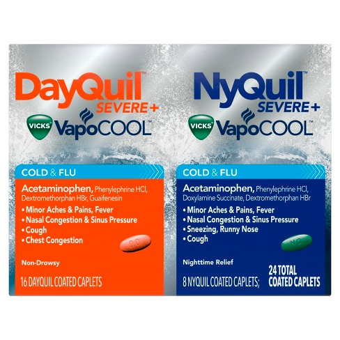 dayquil nyquil severe with vicks vapocool cold flu relief