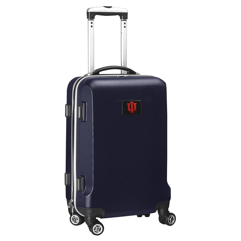 NCAA Indiana Hoosiers Navy Hardcase Spinner Carry On Suitcase