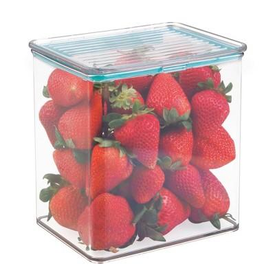 iDESIGN 3qt Kitchen Binz Box with Sealed Lid Clear