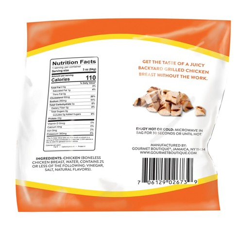 Tru Grill 100 All Natural Grilled Chicken Breasts 3oz Target