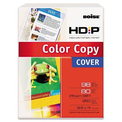 Boise POLARIS Premium Color Copy Paper 80lb 98 Bright 8-1/2 x 11 White 250 Sheets BCC8011