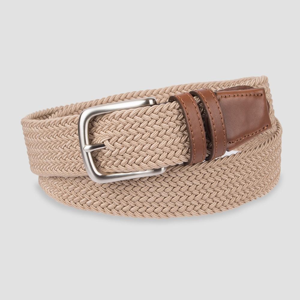 Men's 35mm Stretch Elastic Belt - Goodfellow & Co Brown L, Beige