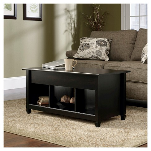 Edge Water Lift Top Coffee Table Estate Black Sauder