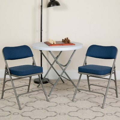 Flash Furniture HERCULES Series Metal Folding Chairs with Padded Seats | Set of 4 Metal Folding Chairs