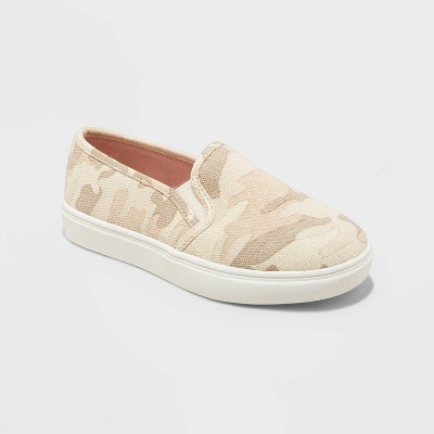 Girls' Shannon Slip-On Sneakers - Cat & Jack™ Camo