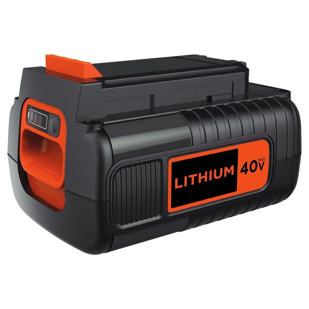 Image of BLACK+DECKER 40V MAX Lithium 2.0 Ah Battery - Black