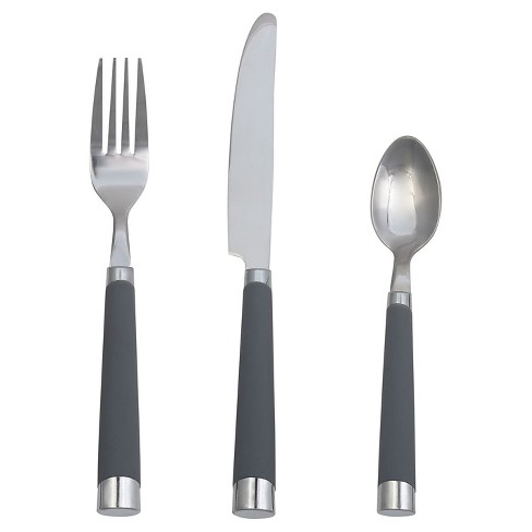 13pc Stainless Steel Everett Silverware Set With Caddy Gray - Room Essentials™ - image 1 of 1
