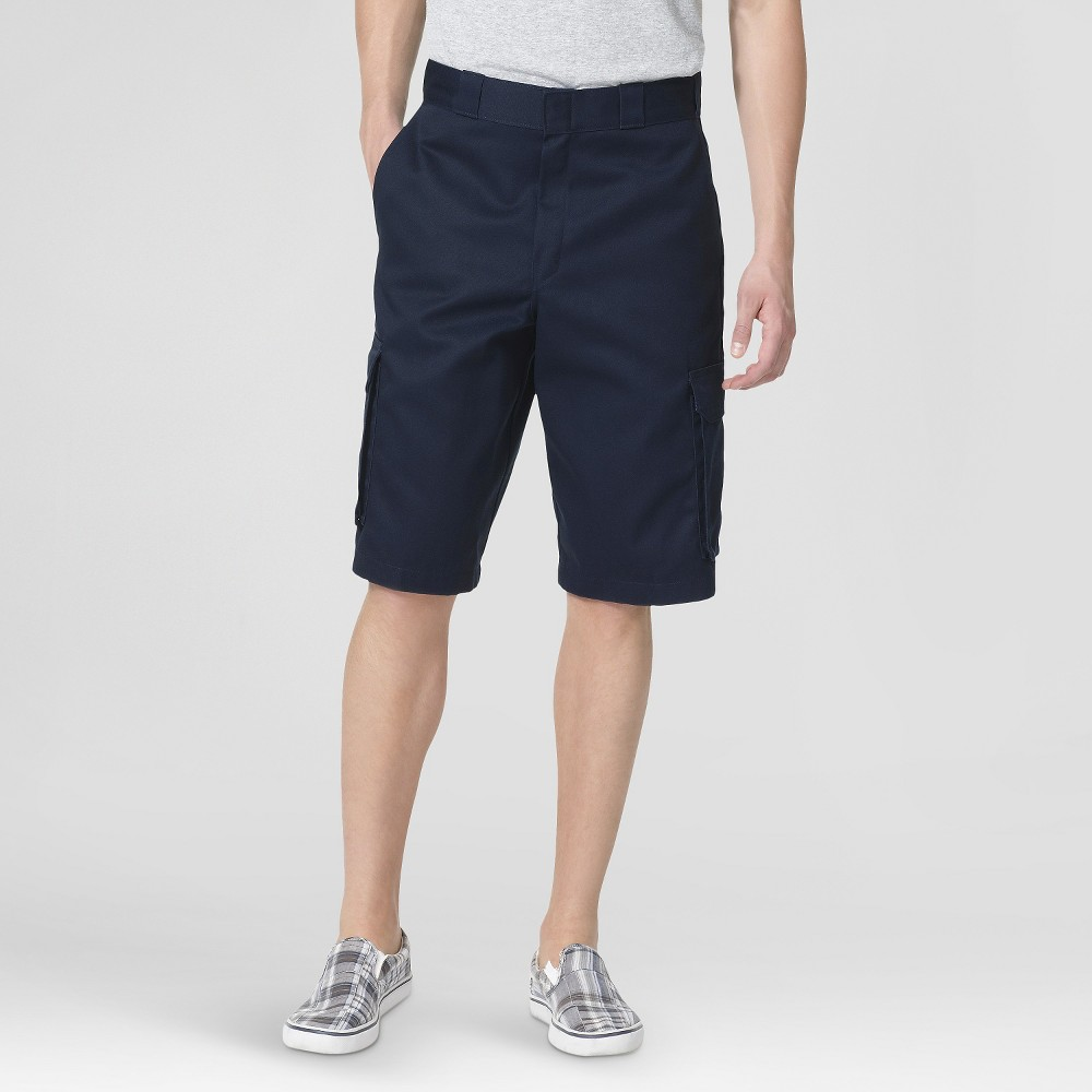 Dickies Men's Loose Fit Twill 13 Cargo Shorts- Dark Navy 36