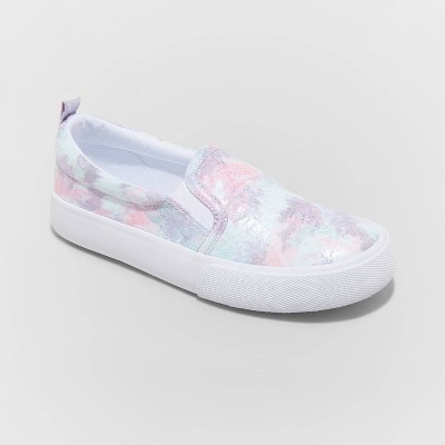 Girls' Sariah Twin Gore Slip-On Apparel Sneakers - Cat & Jack™