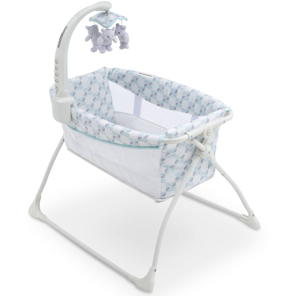 Image of Delta Children Deluxe Activity Sleeper Bassinet for Newborns - Blue