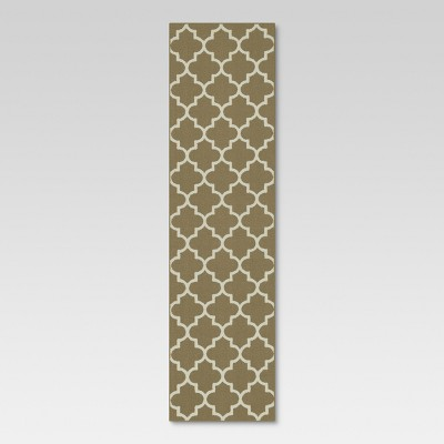 "1'10""x7' Runner Fretwork Design Tan - Threshold™"