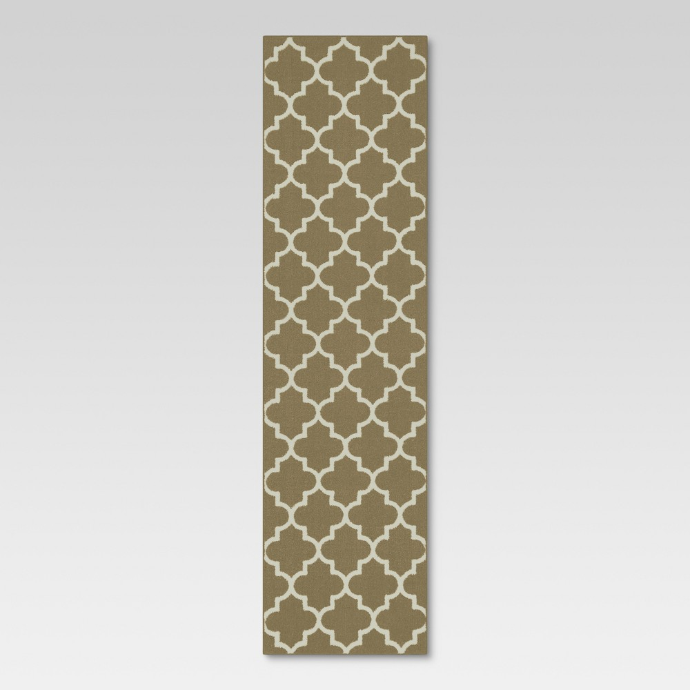 Runner Fretwork Design Tan