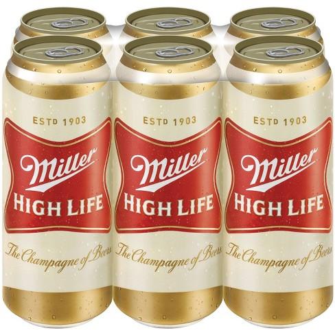 Miller High Life Beer - 6pk/16 fl oz Cans