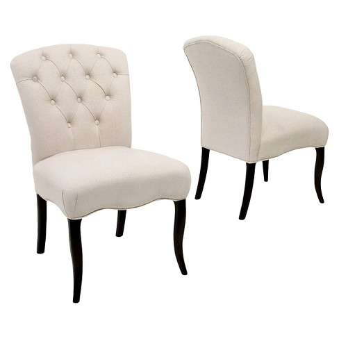 Hallie Fabric Dining Chair Set 2ct - Christopher Knight Home - image 1 of 4