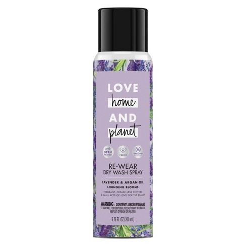 Love Home & Planet Lavender & Argan Oil Re-Wear Dry Wash Spray - 6.76oz - image 1 of 4