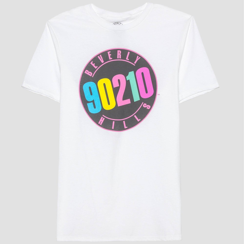 Image of Men's Beverly Hills, 90210 Short Sleeve Graphic T-Shirt - White L, Men's, Size: Large