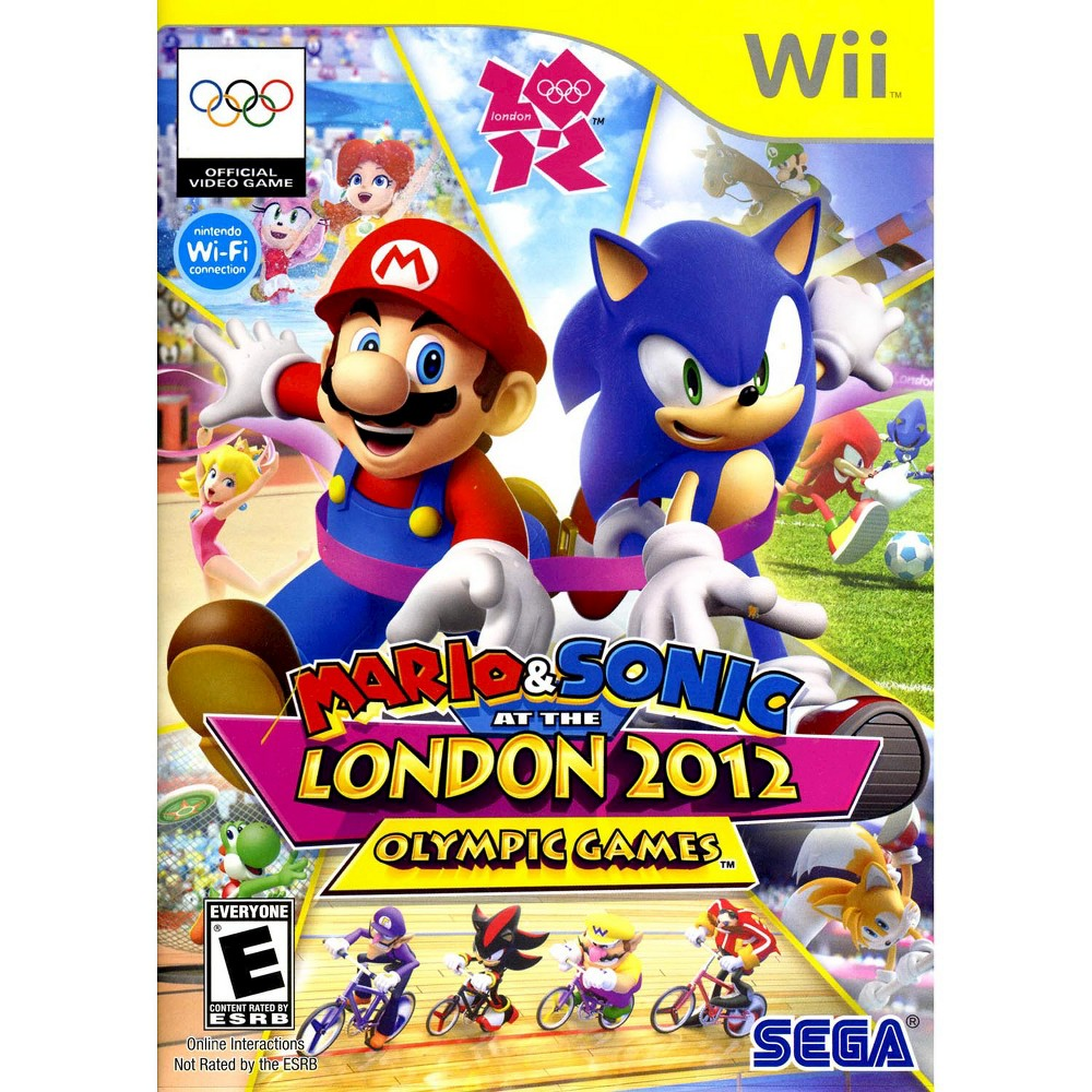 Mario & Sonic: At The London 2012 Olympic Games Pre-Owned Nintendo Wii Mario and Sonic at the London 2012 Olympic Games is a Sports-Party game set at the 2012 Summer Olympic games in London and featuring a wide range of characters from both the Nintendo and Sonic game universes who compete in a wide range of sports events. A Wii exclusive for console play, the game continues the fun of the Mario and Sonic Olympic game series with additional new real-world events,  Dream Games  offering expanded Arcade style gaming possibilities, the unique head-to-head multiplayer London Party Mode, and more all against the iconic background of real London city venues.