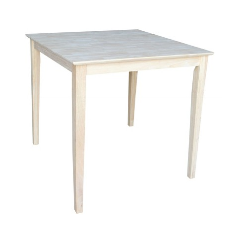 Square Solid Wood Counter Height Table